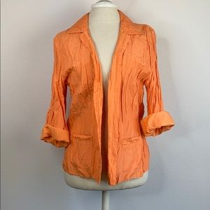 Chicos orange jacket, size large
